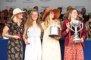 Henley on Thames, England, United Kingdom, 7th July 2019, Henley Royal Regatta, Prize Giving, The Town Challenge Cup, Hollandia Roeiclub, Netherlands,  [© Peter SPURRIER/Intersport Image]<br /> <br /> 17:30:20 1919 - 2019, Royal Henley Peace Regatta Centenary,