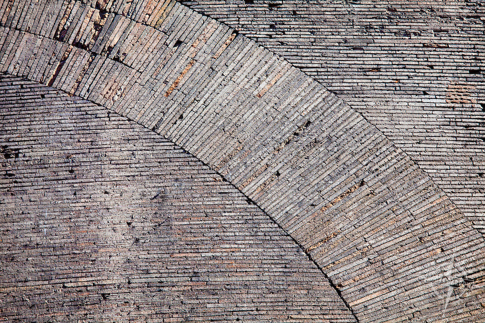 The Pantheon in Rome, Italy. Closeup of wall texture and pattern.