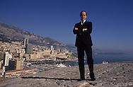 HRH Albert of Monaco, on the prince palace ramparts    S.A.S. Albert de Monaco sur les remparts du palais princier. Monaco  P0005191  L3205  R245/