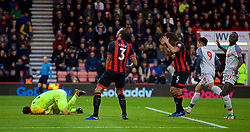 BOURNEMOUTH, ENGLAND - Saturday, December 8, 2018: AFC Bournemouth's Steve Cook looks dejected after scoring an own-goal during the FA Premier League match between AFC Bournemouth and Liverpool FC at the Vitality Stadium. (Pic by David Rawcliffe/Propaganda)