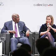 03 June 2015 - Belgium - Brussels - European Development Days - EDD - Special Event - A more connected , contested and complex world is in your hands - A conversation with Federica Mogherini and Sam Kutesa - Federica Mogherini , High Representative of the European Union for Foreign Affairs and Security Policy and Vice-President of the European Commission © European Union