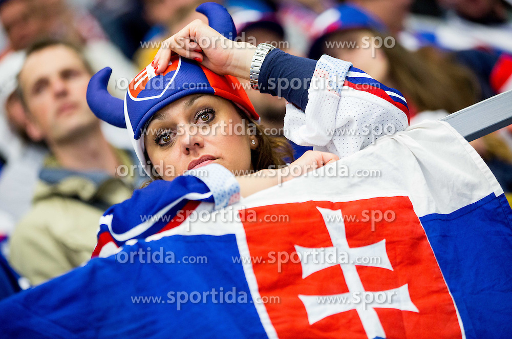 Fan of Slovakia looks dejected during Ice Hockey match between Slovakia and Norway at Day 6 in Group B of 2015 IIHF World Championship, on May 6, 2015 in CEZ Arena, Ostrava, Czech Republic. Photo by Vid Ponikvar / Sportida