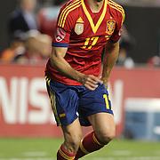 Alvaro Arbeloa, Spain, in action during the Spain V Ireland International Friendly football match at Yankee Stadium, The Bronx, New York. USA. 11th June 2013. Photo Tim Clayton