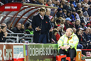 Mauro Milanese, Manager of Leyton Orient, during the Johnstone's Paint Trophy match at the Matchroom Stadium London,<br /> Picture by David Horn/Focus Images Ltd +44 7545 970036<br /> 11/11/2014