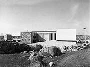 14-15/ 05/ 1959<br /> 05/14-15/1959<br /> 14-15 May 1959<br /> Exterior view of the Gael Linn fish and vegetable processing plant, Carna, Co. Galway.