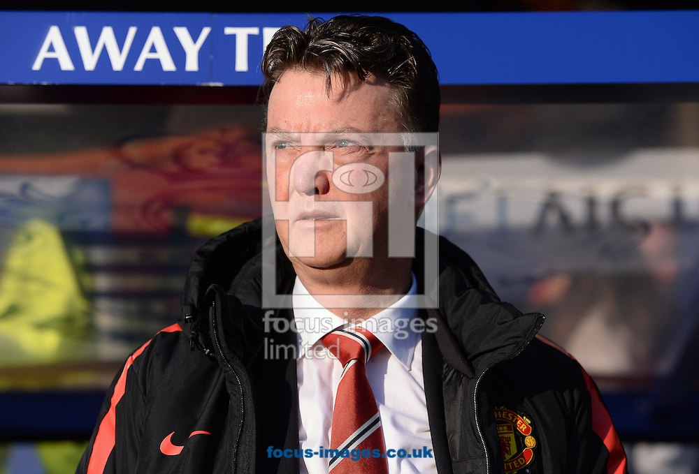 Manager of Manchester United Louis Van Gaal during the Barclays Premier League match against Queens Park Rangers at the Loftus Road Stadium, London<br /> Picture by Andrew Timms/Focus Images Ltd +44 7917 236526<br /> 17/01/2015