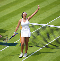 LONDON, ENGLAND - Tuesday, June 25, 2013: Madison Keys (USA) during the Ladies' Singles 1st Round match on day two of the Wimbledon Lawn Tennis Championships at the All England Lawn Tennis and Croquet Club. (Pic by David Rawcliffe/Propaganda)