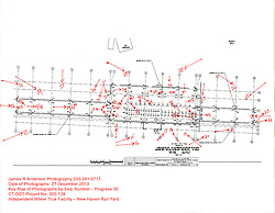 New Haven Rail Yard, Independent Wheel True Facility. CT-DOT Project # 0300-0139, New Haven CT.<br /> Photograph of Construction Progress Photo Shoot 30 on 27 December 2013. Key Map Plan