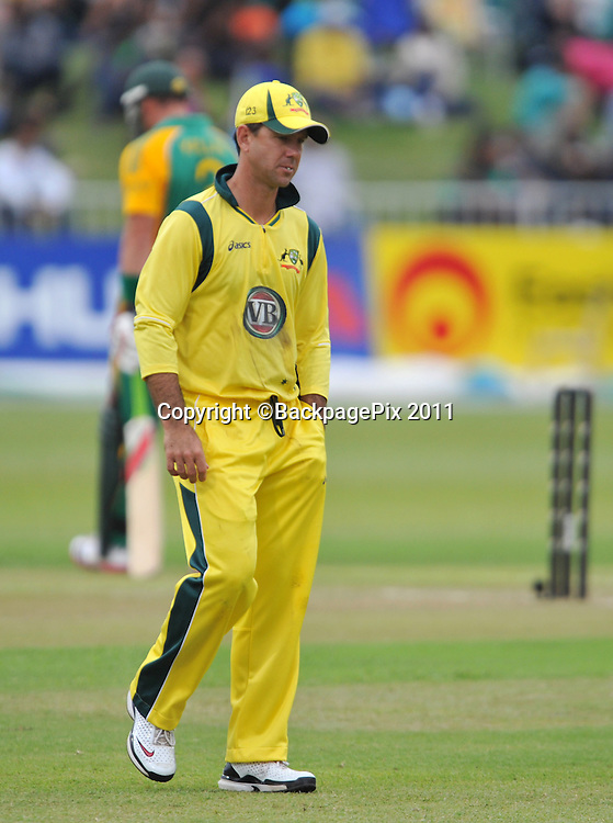 Ricky Ponting , Australia. Cricket - 2011 One Day International - South Africa v Australia - Kingsmead Stadium - Durban<br /> <br /> &copy; Sabelo Mngoma/BackpagePix