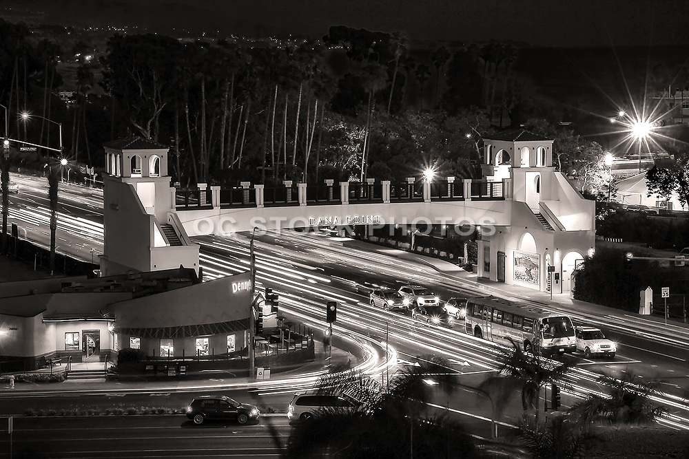 Dana Point Pedestrian Bridge at Night