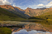 Piney Lake and Gore Mountain Range near Vail, Colorado