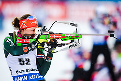 March 8, 2019 - –Stersund, Sweden - 190308 Laura Dahlmeier of Germany during warm up ahead of the Women's 7.5 KM sprint during the IBU World Championships Biathlon on March 8, 2019 in Östersund..Photo: Petter Arvidson / BILDBYRÃ…N / kod PA / 92247 (Credit Image: © Petter Arvidson/Bildbyran via ZUMA Press)