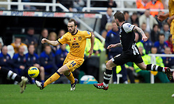 NEWCASTLE-UPON-TYNE, ENGLAND - Saturday, November 5, 2011: Everton's James McFadden in action against Newcastle United during the Premiership match at St. James' Park. (Pic by Vegard Grott/Propaganda)