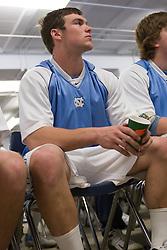 22 March 2008: North Carolina Tar Heels defenseman midfielder Michael J. Burns (26) in the locker room before playing the Maryland Terrapins at Fetzer Field in Chapel Hill, NC.
