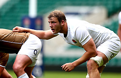 Joe Launchbury of England takes part in training at Twickenham ahead of the upcoming tour of Argentina - Mandatory by-line: Robbie Stephenson/JMP - 02/06/2017 - RUGBY - Twickenham - London, England - England Rugby Training
