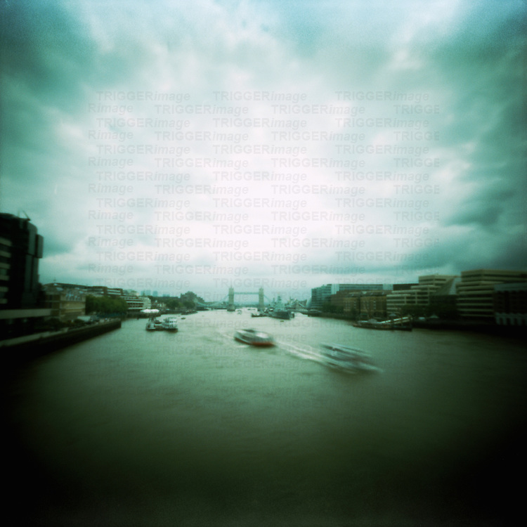 The River Thames and Tower Bridge in London England