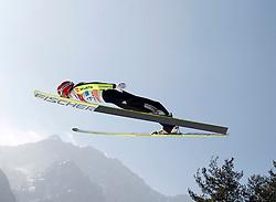 17.03.2012, Planica, Kranjska Gora, SLO, FIS Ski Sprung Weltcup, Team Skifliegen, im Bild Richard Freitag (GER),   during the FIS Skijumping Worldcup Flying Hill Team, at Planica, Kranjska Gora, Slovenia on 2012/03/17. EXPA © 2012, PhotoCredit: EXPA/ Oskar Hoeher.