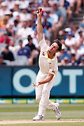 Mitch Marsh bowls a ball during day three of the Australia v England fourth test at the Melbourne Cricket Ground, Melbourne, Australia on 28 December 2017. Photo by Mark  Witte.