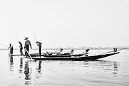B&W High Key- Inle Lake Myanmar