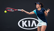 Nao Hibino of Japan in action during her second round match at the 2020 Australian Open, WTA Grand Slam tennis tournament on January 22, 2020 at Melbourne Park in Melbourne, Australia - Photo Rob Prange / Spain ProSportsImages / DPPI / ProSportsImages / DPPI