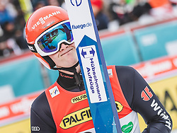 16.02.2020, Kulm, Bad Mitterndorf, AUT, FIS Ski Flug Weltcup, Kulm, Herren, 2. Wertungsdurchgang, im Bild Philipp Aschenwald (AUT) // Philipp Aschenwald of Austria reacts after his 2nd Competition Jump for the men's FIS Ski Flying World Cup at the Kulm in Bad Mitterndorf, Austria on 2020/02/16. EXPA Pictures © 2020, PhotoCredit: EXPA/ JFK