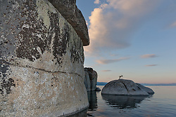"""Tahoe Boulders at Sunrise 15"" - These boulders were photographed at sunrise near Speedboat Beach, Lake Tahoe. Photographed from a kayak."