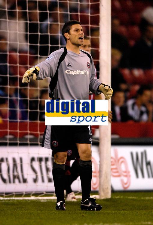 Photo: Jed Wee.<br /> Sheffield United v Birmingham City. Carling Cup. 24/10/2006.<br /> <br /> Sheffield United's Ian Bennett.