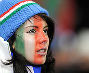 A pretty Italian fan during the 2010 FIFA World Cup South Africa Group F match between Italy and Paraguay at Green Point Stadium on June 14, 2010 in Cape Town, South Africa.
