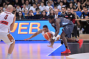 Jamelle Hagins, Dustin Hogue<br /> Dolomiti Energia Aquila Basket Trento - Umana Reyer Venezia<br /> Lega Basket Serie A 2016/2017<br /> Trento 05/02/2017<br /> Foto Ciamillo-Castoria