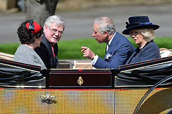 Pictured are Prince Charles and Camilla Duchess of Cornwall in a royal carriage with guests.<br /> <br /> The Queen and Duke of Edinburgh host a royal ceremonial welcome to The Irish President Michael D Higgins and First Lady Sabina Higgins in Windsor, Berkshire, UK<br /> <br /> Tuesday the 8th of April 2014. Picture by Ben Stevens / i-Images