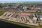 Nederland, Zuid-Holland, Maassluis, 23-05-2011;.Nieuwbouwwijk langs de  Nieuwe Waterweg in Maassluis..New housing estate along the Nieuwe Waterweg in city of Maassluis..luchtfoto (toeslag), aerial photo (additional fee required).copyright foto/photo Siebe Swart