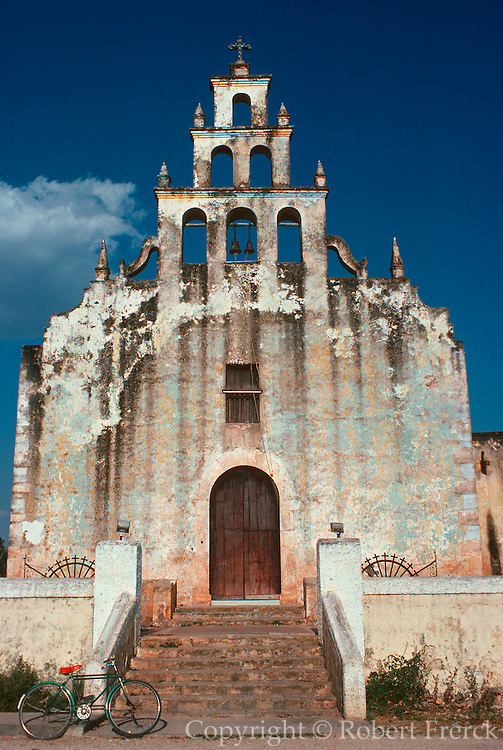 MEXICO, COLONIAL CITIES Colonial church in Tahmek in the Yucatan