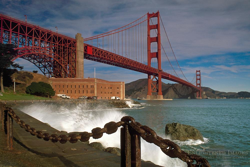 Golden Gate Bridge and Fort Point, The Presidio, San Francisco, California
