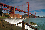 Golden Gate Bridge and Fort Point, The Presidio, San Francisco, California
