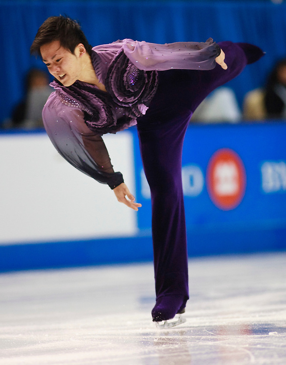 20101029 -- Kingston, Ontario --  Yasuharu Nanri of Japan skates his short program at Skate Canada International in Kingston, Ontario, Canada, October 29, 2010.<br /> AFP PHOTO/Geoff Robins