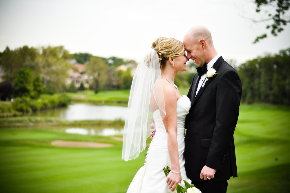 Anne & Mason on the grounds, Crystal Tree Golf & Country Club, Chicago