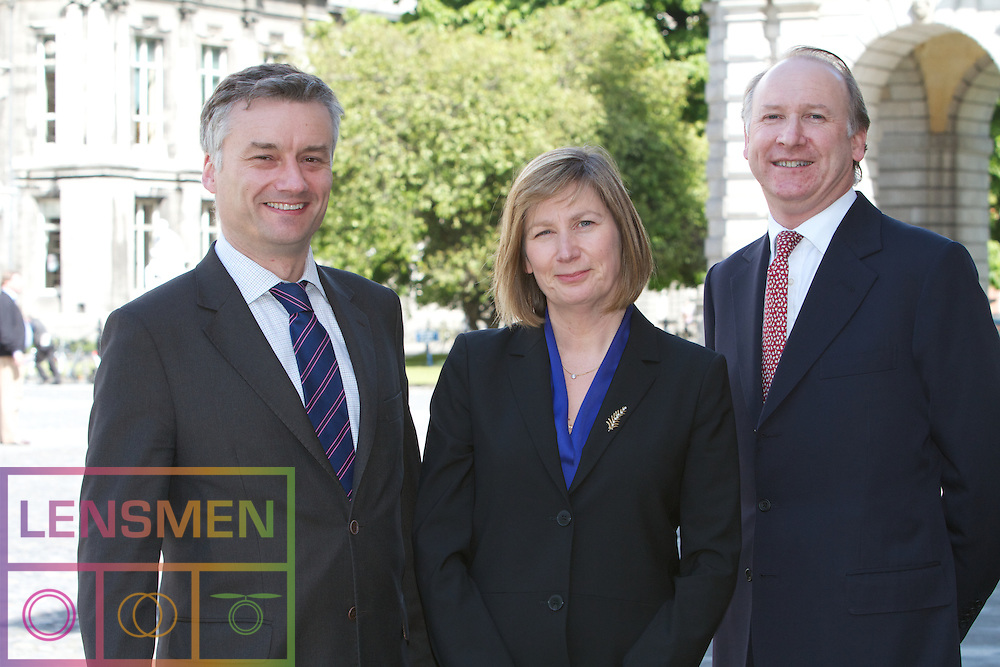 Blanaid Clarke, Chair of Corporate Law.  The Chair is sponsored by McCann FitzGerald.  ..Chair (Blanaid Clarke), the Provost, Patrick Prendergast, Hilary Biehler (Head of School) and John Cronin (Partner, McCann FitzGerald).