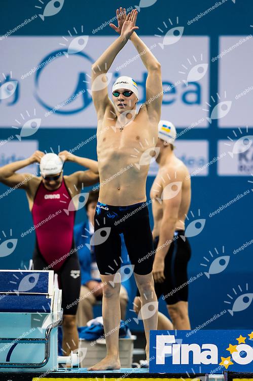 PLAVIN Bogdan UKR<br /> Mixed 4x50m Freestyle Relay Final<br /> Doha Qatar 06-12-2014 Hamad Aquatic Centre, 12th FINA World Swimming Championships (25m). Nuoto Campionati mondiali di nuoto in vasca corta.<br /> Photo Giorgio Scala/Deepbluemedia/Insidefoto