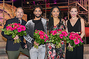 2019, June 20. Autotron, Rosmalen, the Netherlands. Tony Neef, Freek Bartels, April Darby and Willemijn Verkaik at the premiere of Aida in Concert.