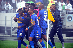 Cape Town 18-03-14  Cape Town city celebrating after Ayanda Patosi scored against Orlando Pirates nedbank Cup in  Cape Town Stadium Pictures Ayanda Ndamane African news agency/ANA