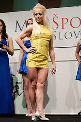 Mojca Petaros during event Miss Sports of Slovenia 2012, on April 21, 2012, in Festivalna dvorana, Ljubljana, Slovenia. (Photo by Urban Urbanc / Sportida.com)