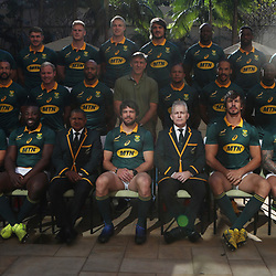 DURBAN, SOUTH AFRICA - JUNE 16: Team photo the Gary Teichmann (Chief executive officer) of the Cell C Sharks during the South African national mens rugby team Captains press conference and team photograph at Garden Court Umhlanga on June 16, 2017 in Durban, South Africa. (Photo by Steve Haag/Gallo Images)