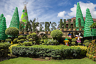 Baker's Hill is a unique spot outside the city of Puerto Princesa with views of Honda Bay and the city below.  Besides its famous bakery and restaurant, not to mention views, the grounds are arranged around colorful statues, kitsch and tropical plants. One of the more unique spots in the Philippines and certainly Palawan which is justly more famous for its natural attributes than quirky yet unique theme parks.