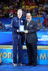 KIMBERLY HILL MOST VALUABLE PLAYER<br /> AWARDING CEREMONY<br /> VOLLEYBALL WOMEN'S WORLD CHAMPIONSHIP 2014<br /> MILAN 12-10-2014<br /> PHOTO BY FILIPPO RUBIN
