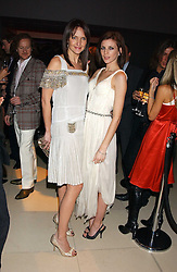 Left to right, SAFFRON ALDRIDGE and LIBERTY ROSS at a Burns Night supper in aid of Clic Sargent & Children's Hospital Association Scotland hosted by Ewan McGregor, Sharleen Spieri and Lady Helen Taylor at St.Martin's Lane Hotel, 45 St Martin's Lane, London on 25th January 2006.<br />