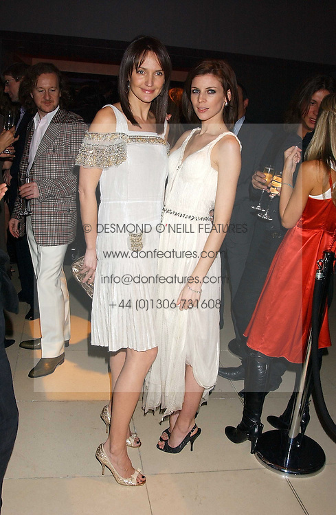 Left to right, SAFFRON ALDRIDGE and LIBERTY ROSS at a Burns Night supper in aid of Clic Sargent &amp; Children's Hospital Association Scotland hosted by Ewan McGregor, Sharleen Spieri and Lady Helen Taylor at St.Martin's Lane Hotel, 45 St Martin's Lane, London on 25th January 2006.<br /><br />NON EXCLUSIVE - WORLD RIGHTS