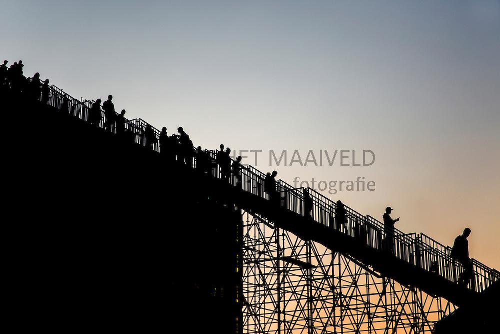 Rotterdam trap ontworpen door MVRDV in het kader van Rotterdam viert de stad. 75 Jaar wederopbouw.