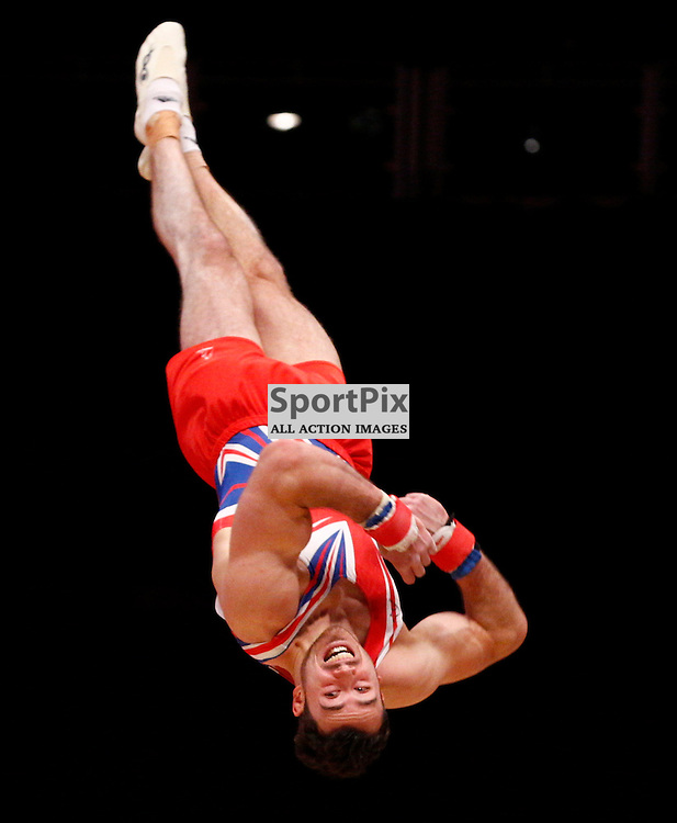 2015 Artistic Gymnastics World Championships being held in Glasgow from 23rd October to 1st November 2015.....Kristian Thomas (Great Britain) competing in the Floor Exercise competition..(c) STEPHEN LAWSON | SportPix.org.uk