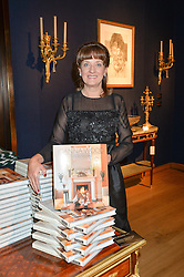 JOANNA WOOD at a party to celebrate the publication of Interiors For Living by Joanna Wood held at Christie's. 8 King Street, St.James's, London on 2nd March 2015.