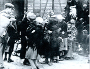 Jewish families being transported to an Extermination Camp in East Europe c1942.
